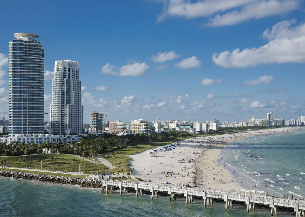 Miami Sit back and relax on South Beach with a $34 flight aboard Frontier Airlines. The fare is available on Thursday, Feb. 4 at 11:57 a.m. out of SAT.