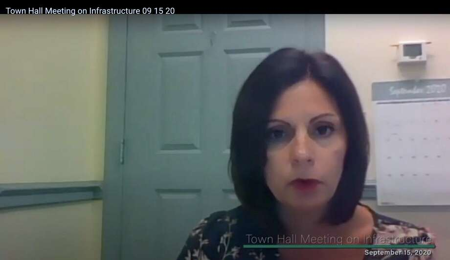 Economic and Community Development Director Rina Bakalar gives an overview of current development projects in town on September 15, 2020. Photo: Zoom Screen Capture /