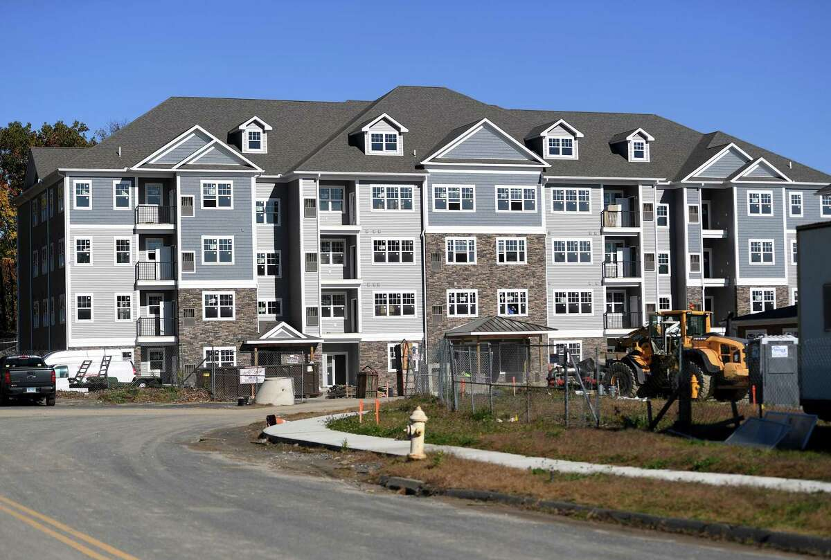 The Ten Trumbull apartment complex under construction at 100 Oakview Drive in Trumbull in 2019.