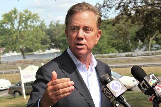 Gov. Ned Lamont stopped by Middletown City Hall Wednesday on deKoven Drive to speak with reporters.