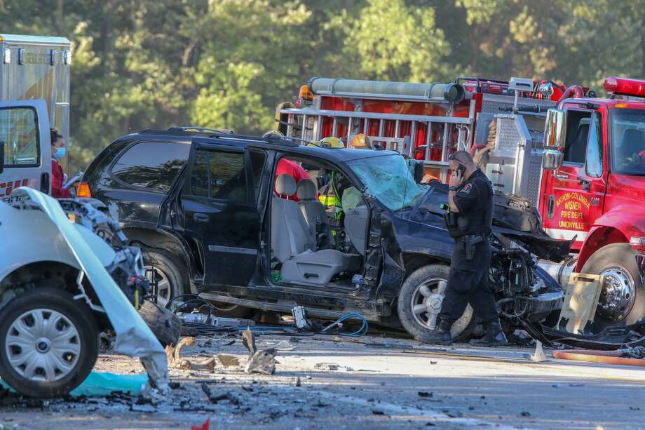 Unionville Road in Sebewaing was closed Thursday morning due to an accident that required multiple rescue crews and a flight care helicopter. (Eric Young/Huron Daily Tribune) Photo: Eric Young/Huron Daily Tribune / © Huron Daily Tribune 2020