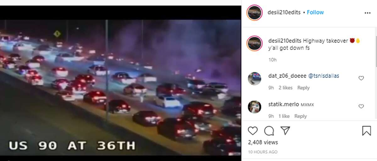 Social media videos posted Wednesday night show U.S. 90 on the West Side at a standstill because people were congregating between the lanes of traffic in celebration of Mexican Independence Day.