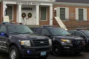 Police headquarters in Southbury, Conn.