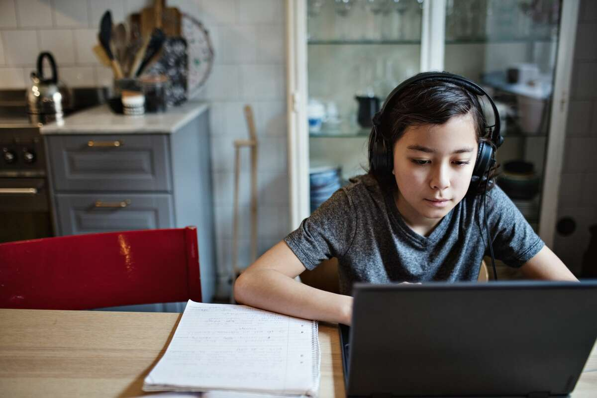 FILE - School districts across the San Francisco Bay Area are teaching classes via distance learning amid the coronavirus pandemic.
