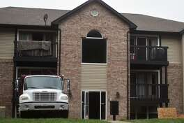An early morning apartment fire Tuesday displaced four people from two units at the University Apartments located at Esic and University drives.