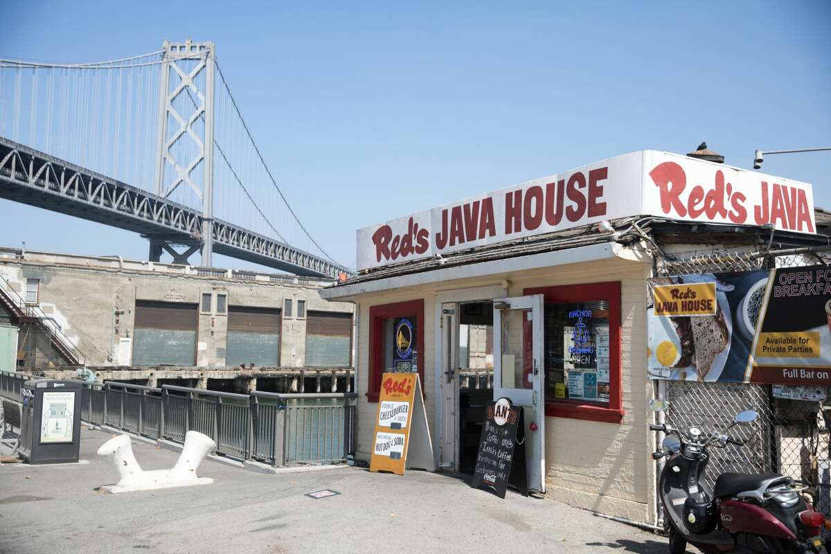 The exterior of Red's Java House on Pier 30-32 in San Francisco, California on Sept. 16, 2020.