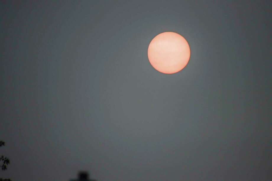 Smoke lingering over Michigan caused the sun to look hazy earlier this week. The smoke caused by west coast wildfires has moved further east thanks to a cold front moving through the Great Lakes area. (Scott Nunn/Huron Daily Tribune)