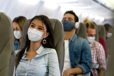 A new study concludes that 100% use of masks by passengers can cut COVID risk to less than 1%.