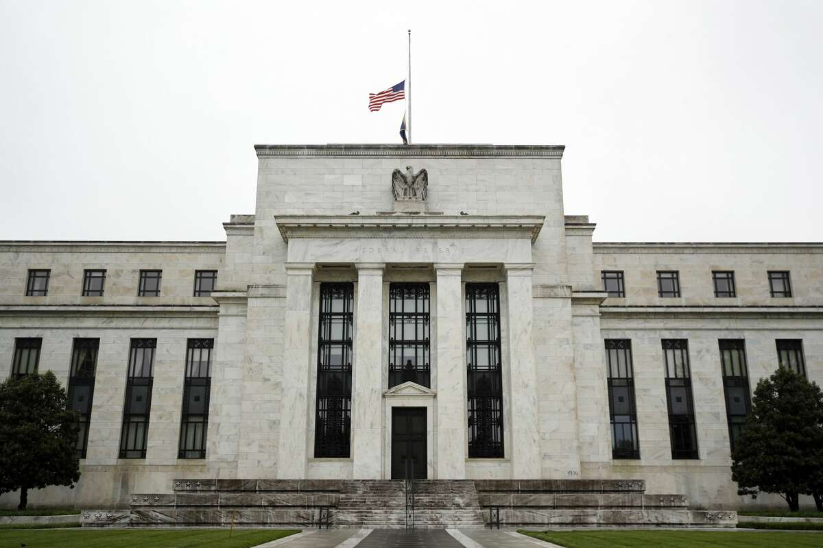 In this May 22, 2020, file photo, the Federal Reserve building is viewed in Washington. (AP Photo/Patrick Semansky, File)