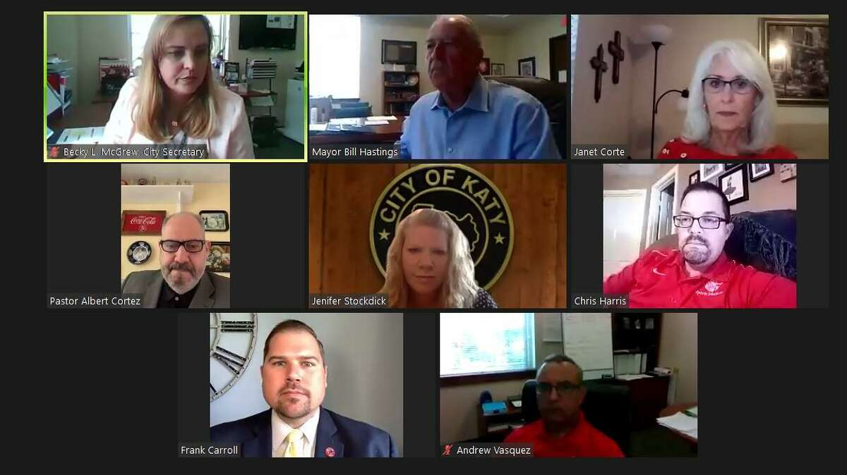 Katy city council meets via Zoom meeting on Sept. 14, 2020.