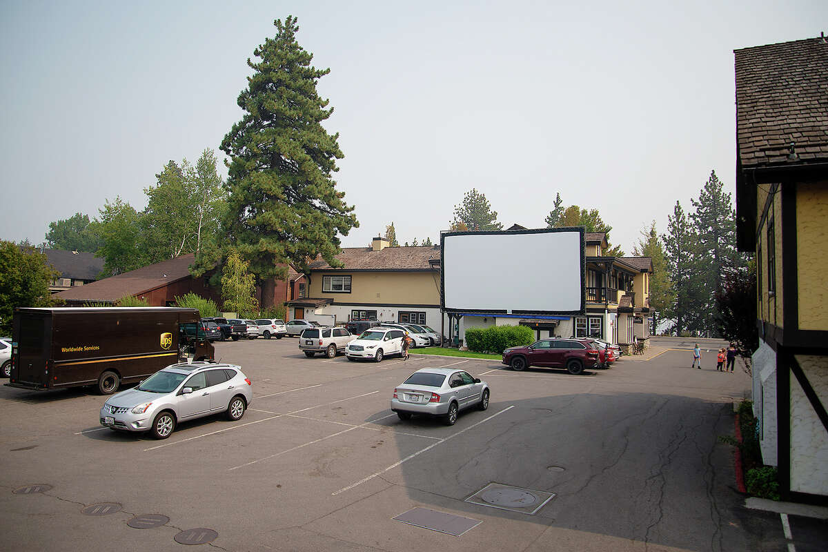 Art Haus Cinema prepares to host a drive in movie night during the coronavirus pandemic on Sept. 16, 2020.