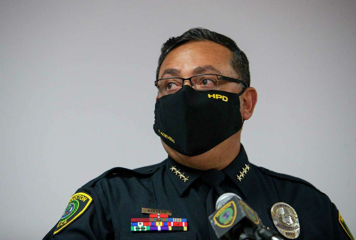 Houston Police Chief Art Acevedo appears at a news conference in September.