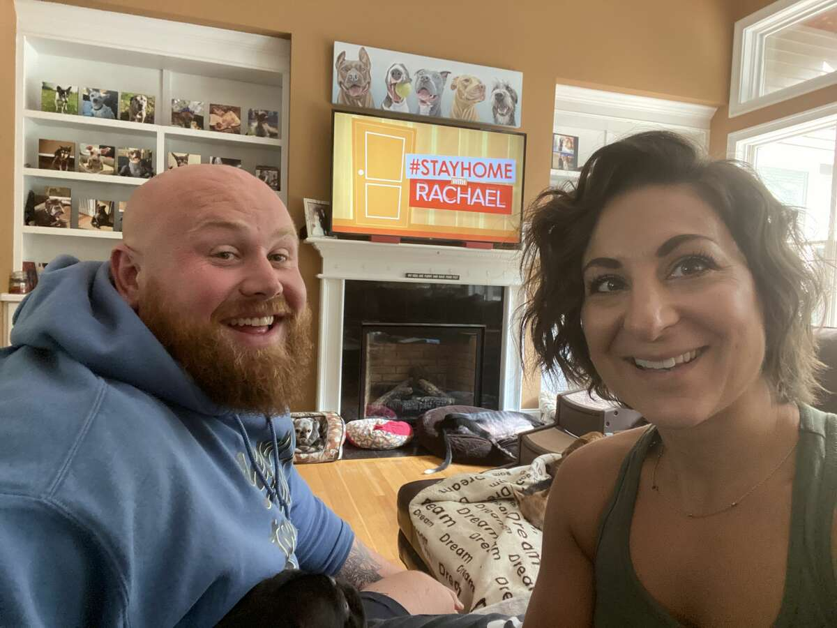Chris and Mariesa Hughes run the Mr. Mo Project, a not-for-profit dog rescue based in Clifton Park. They currently have 21 dogs at their house and more than 100 in various foster homes. They were recently featured on the Rachael Ray show.