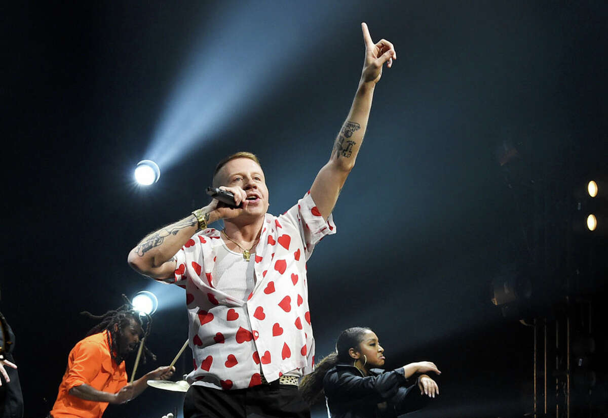 LOS ANGELES, CALIFORNIA - MAY 16: Macklemore performs onstage during MusiCares® Concert For Recovery Presented by Amazon Music, Honoring Macklemore at The Novo at L.A. Live on May 16, 2019 in Los Angeles, California. (Photo by Kevin Winter/WireImage for MusiCares)