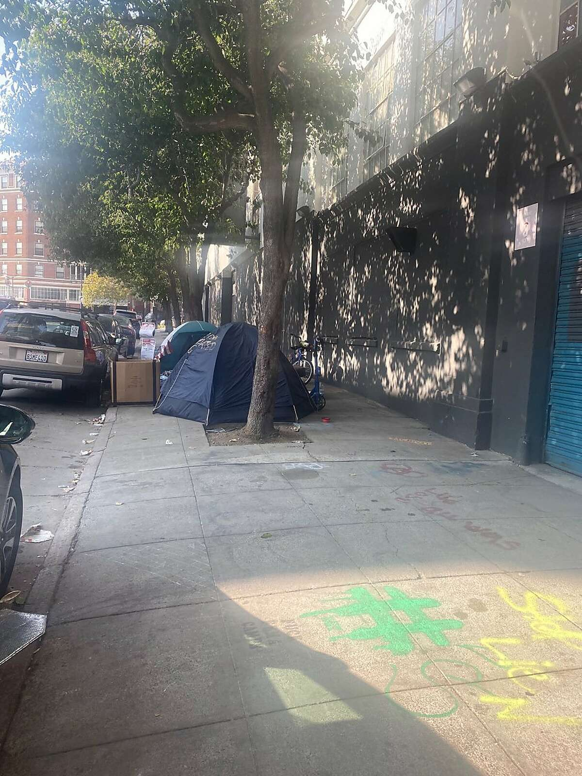 Tents have returned outside of 10 South Van Ness Ave. in San Francisco after a homelessness sweep last week where people's belongings were discarded.