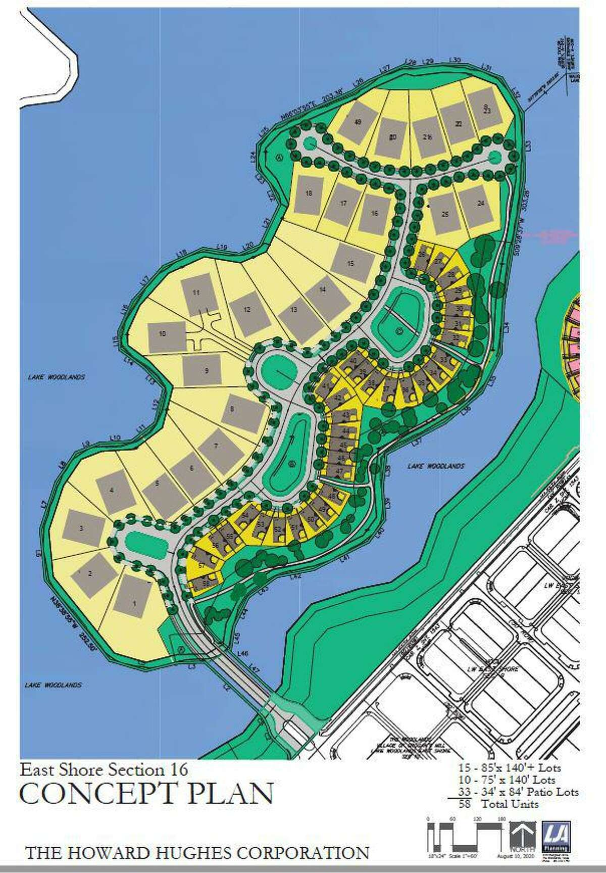 Officials from the Howard Hughes Corp., which owns the island, had at first attempted to push through a plan for 58 homes on the township's only island, located off the west side of the East Shore neighborhood in Lake Woodlands. Those plans were at the Houston Planning Commission when local residents began to protest the expansion of development on the island that has sat vacant since its creation in 1986. Now, under the Nov. 4 ILUD change approved by the township's Development Standards Committee, a maximum of 30 homes will be constructed.