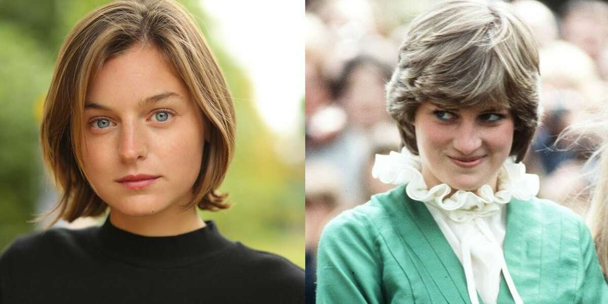 """In """"The Crown,"""" 32-year-old Prince Charles (Josh O'Connor) courts bright-eyed 19-year-old Princess Diana (Emma Corrin, on the left), then as they marry in arguably the wedding of the century in 1981. But with each episode, we see that the fairy-tale wedding was nothing more than just that: a fairy tale."""