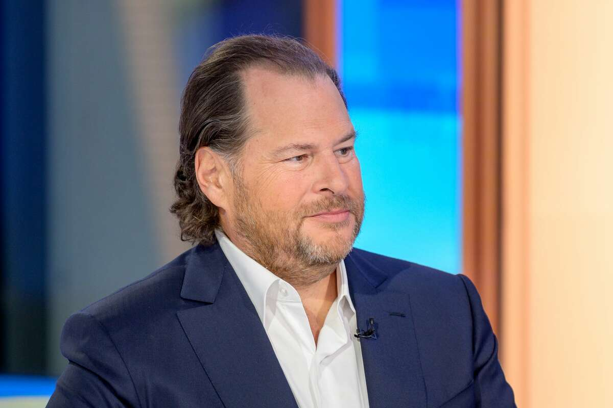 FILE -- Salesforce Founder Marc Benioff on October 16, 2019 in New York City.