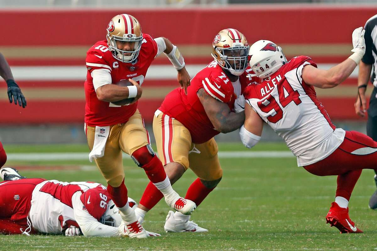 Back in the 49ers' fold with his six-year deal, left tackle Trent Williams will keep protecting Jimmy Garoppolo.