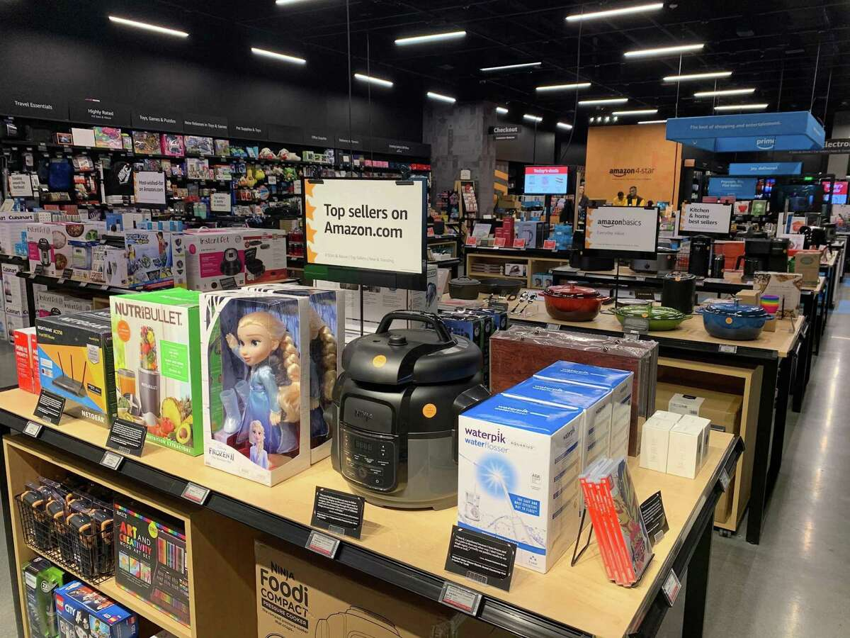 Amazon is opening a 4-star bricks-and-mortar store on Friday in The Woodlands. A Seattle 4-star store is pictured.