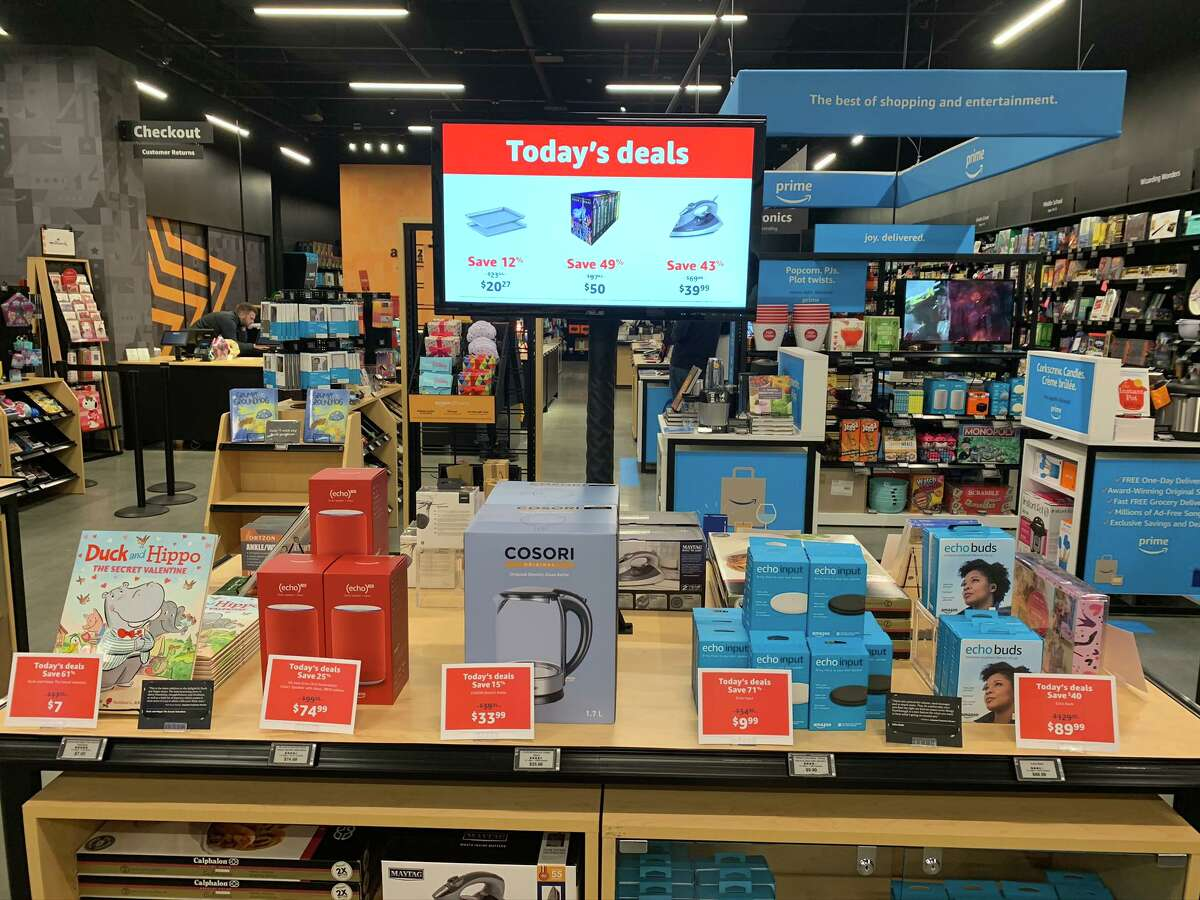 Amazon is opening a 4-star Bricks-and-mortar store Sept. 18, 2020, in The Woodlands. A Seattle 4-star store is pictured.