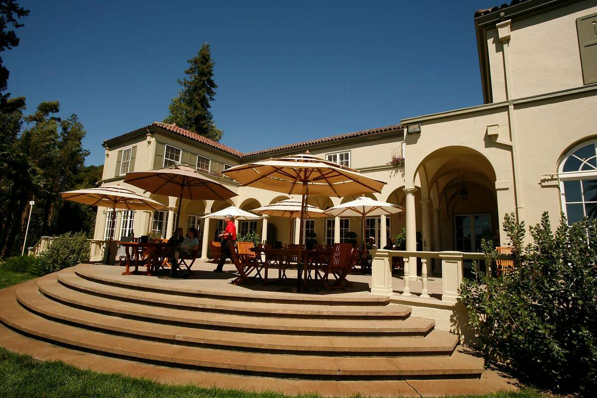 The reserve tasting room patio of Chateau St. Jean in Kenwood, Calif., on August 20, 2008.