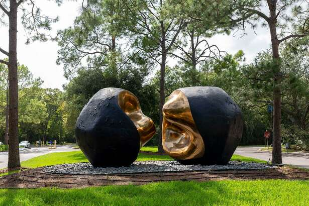 """""""Spiritus Mundi,"""" by Spanish artist Pablo Serrano, is the largest display of public art on the University of Houston-Clear Lake campus. Faculty members will lead an online artists' conversation 5-6 p.m. Sept. 29."""