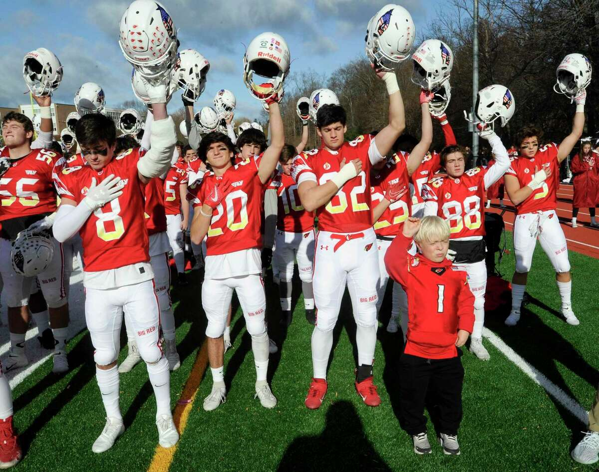 Greenwich defeated Staples 38-14 in a traditional Thanksgiving Day football game between the two schools at Staples Stadium in Westport, Conn. on Nov. 28, 2019.