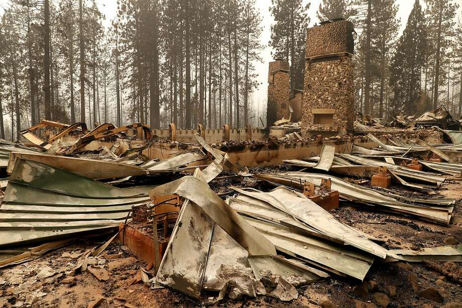 "The remains of Camp Okizu during North Complex West Zone Fire in Berry Creek, Calif., on Thursday, September 10, 2020. Camp Okizu helped ""all members of families affected by childhood cancer to heal through peer support, respite, mentoring and recreational programs."" Photo: Scott Strazzante / The Chronicle"