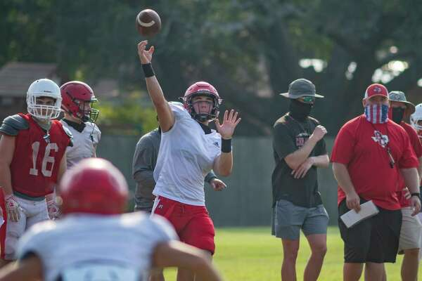 The Bridge City Cardinals practice to get ready for the 2020 season. Photo made on August 7, 2020. Fran Ruchalski/The Enterprise