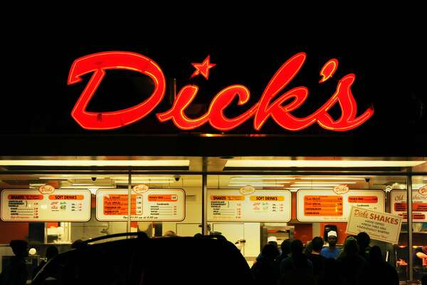 Dick's Drive-in, iconic local landmark hamburger joint, Seattle, Washington, March 8, 2015