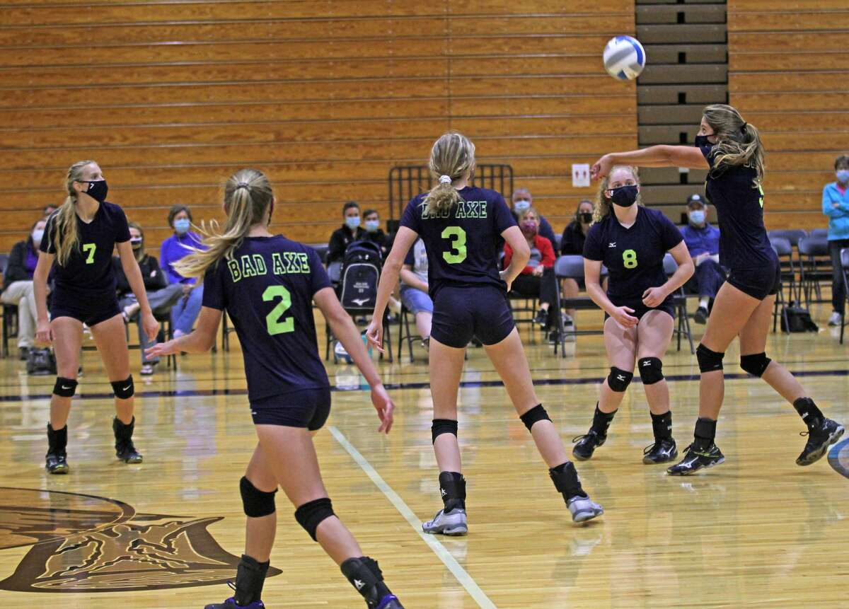 The visiting Reese Rockets picked up a win in four sets over host Bad Axe on Thursday night.