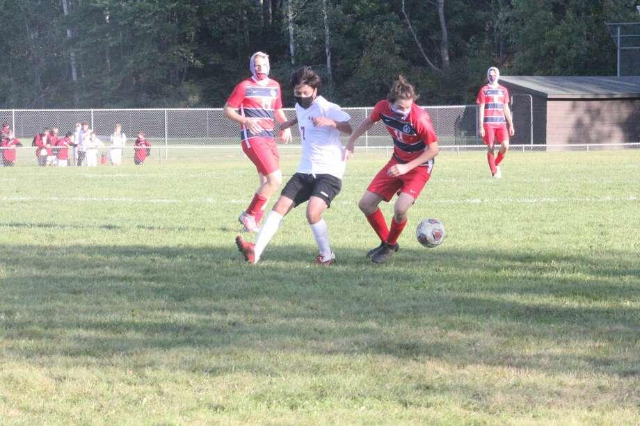 Big Rapids' boys soccer squad earned a 1-0 win over Kent City on Thursday. Photo: John Raffel