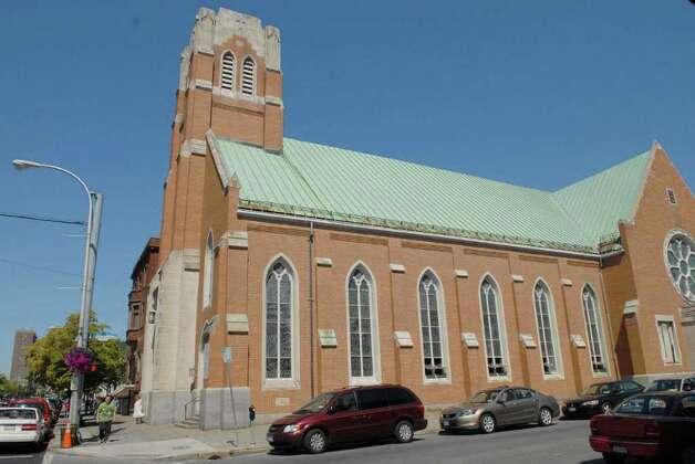 A view of the Church of the Holy Family on Central Avenue in Albany on Sunday, Aug. 29, 2010.  The Roman Catholic Diocese of Albany announced Sunday that it has removed deacon  Angel Garcia from active ministry at the church after determining there were reasonable grounds to believe he sexually abused a minor in the early 1990s prior to his training and ordination as a?deacon. (Paul Buckowski / Times Union) Photo: Paul Buckowski