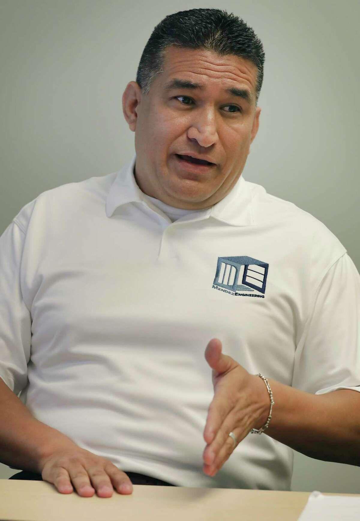Ray Mendez's business, Mendez Engineering, takes on projects for municipal agencies such as CPS Energy and SAWS.
