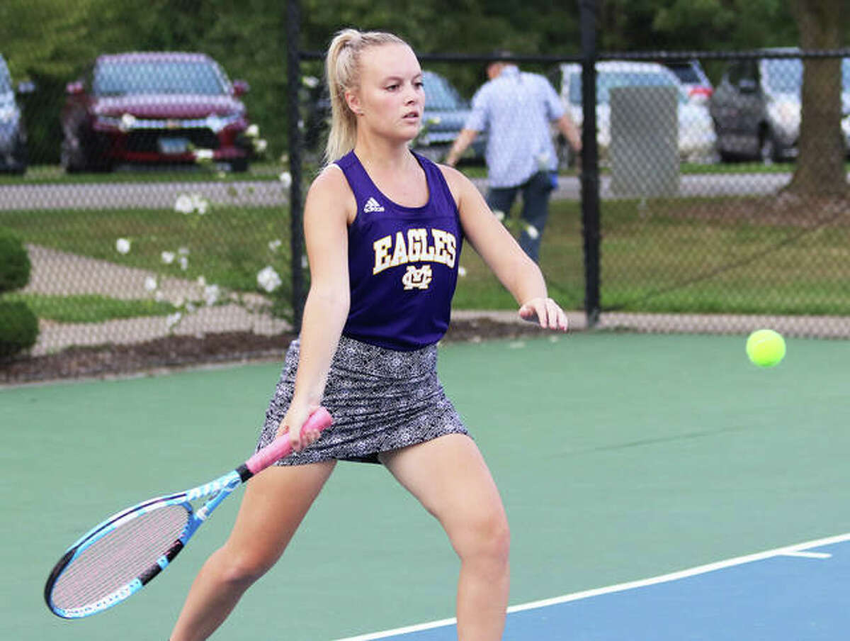 CM's Kennedy Loewen won three matches for the Eagles on Thursday in Greenville.