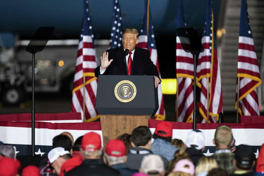 President Donald Trump speaks during a 'Make America Great Again' rally in Mosinee, Wis, on Sept. 17, 2020. Photo: Bloomberg Photo By Lauren Justice. / © 2020 Bloomberg Finance LP