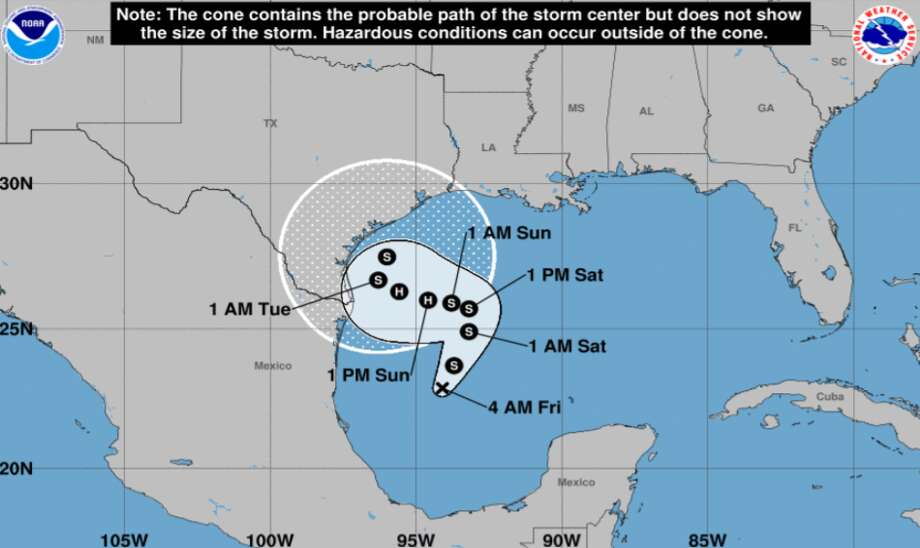 Experts haven't been able to determine whether San Antonio will be impacted by the tropical depression forming in the Gulf of Mexico as they continue to monitor the path of the storm. Photo: National Weather Service