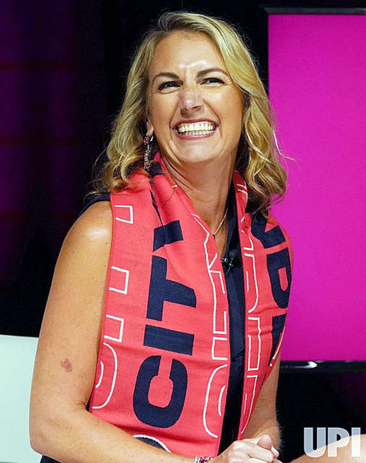 St. Louis City SC CEO Carolyn Kindle Betz is all smiles following the announcement of the name of the soccer team during a virtual press conference last month. The team, which begins play in 2023, received deposits on some 50,000 season tickets earlier this week.