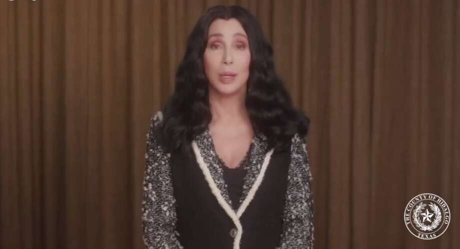 Music icon Cher sent a heartfelt public service announcement to Hidalgo County in response to the COVID-19 outbreak there. Photo: Facebook Screenshot