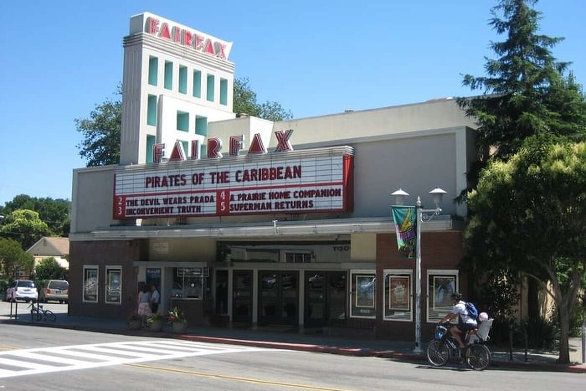 The Fairfax Theatre screens movies at 9 Boadway in Fairfax, Calif.