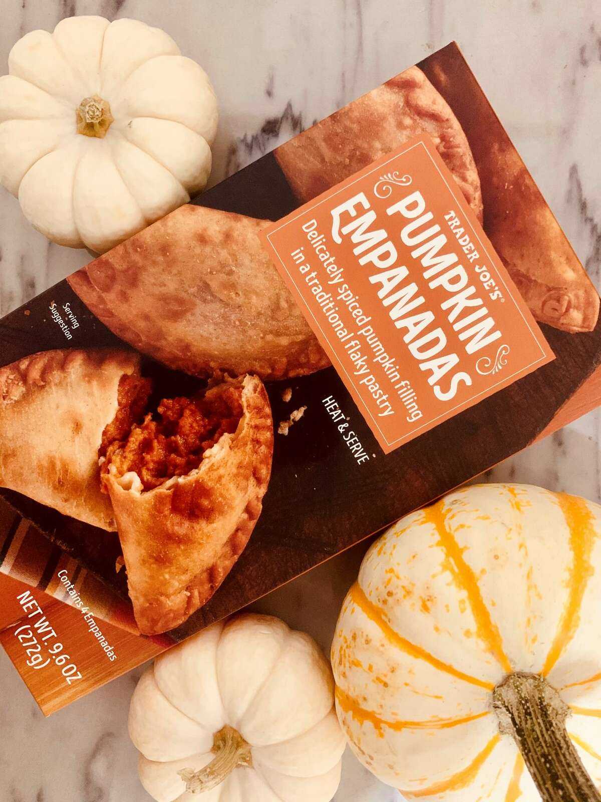 We had high hopes for this Trader Joe's pumpkin newbie, as did many others highly anticipating the release of these pumpkin-stuffed pockets given we've rarely uncovered a pumpkin empanada. Now, we understand why. While an interesting take on pumpkin, maybe curiosity got the best of us on this one. After baking, the soggy breaded layer didn't give us that,