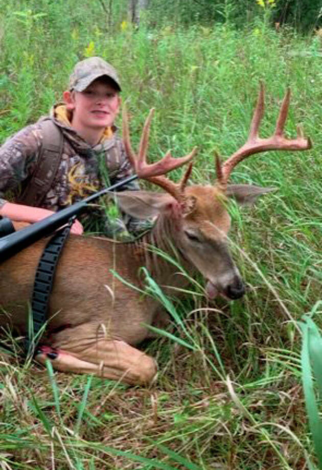 Charles Montgomery of Big Rapids was among the successful youth hunters last week. Photo: Courtesy Photo