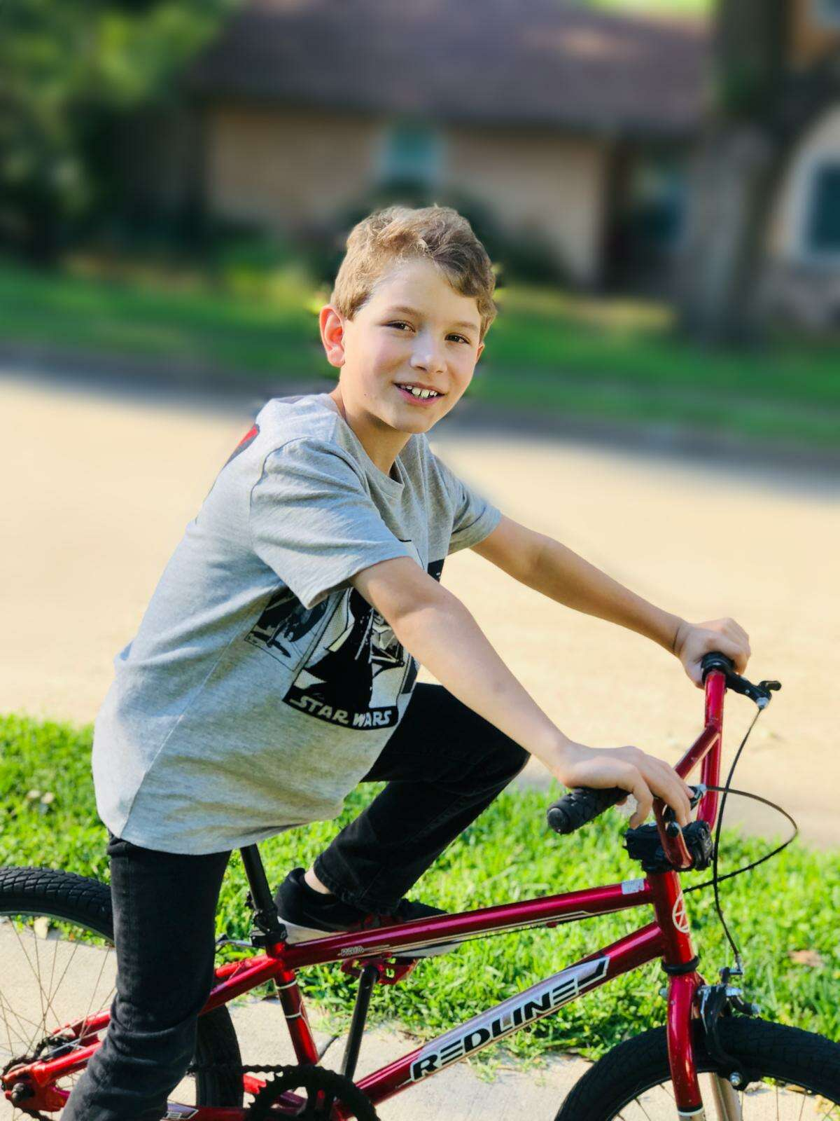 Victor Peterzen, who was struck and killed by a car while riding his bike through their neighborhood earlier this month, photographed earlier this year. His parents are hosting a vigil this week hoping to raise awareness about bicycle safety, distracted driving and organ donation. Photographed on Thursday, Sept. 17, 2020, in Houston.