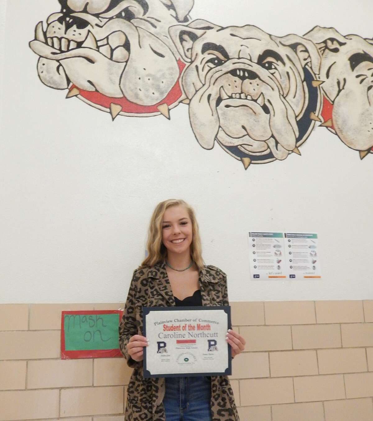Caroline Northcutt was chosen as the September 2020 Student of the Month for the Plainview Chamber of Commerce.