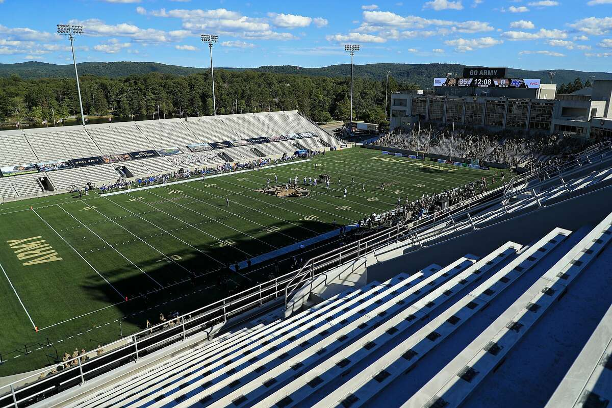 WEST POINT, NEW YORK - SEPTEMBER 05: A general view of empty seats as the Army Black Knights take on the Middle Tennessee Blue Raiders in the second half at Michie Stadium on September 5, 2020 in West Point, New York. (Photo by Mike Lawrie/Getty Images)