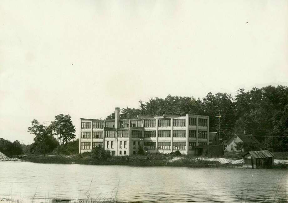 A view of the building constructed for the Manistee Watch Factory, which later housed the A.D. Joslin factory, on Arthur Street circa 1920. (Manistee County Historical Museum photo)