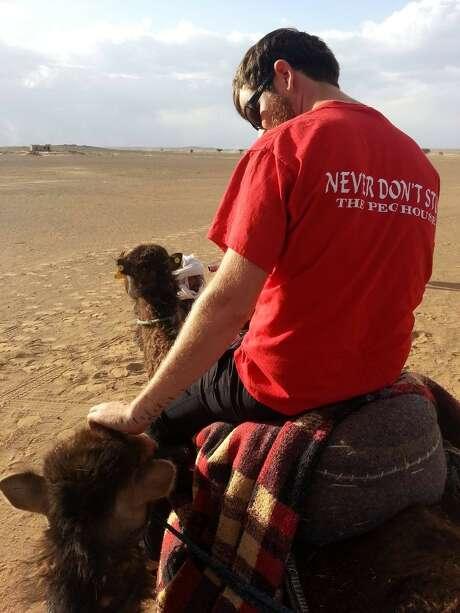 Never don't stop, even in the Sahara Desert. Photo: Erin Inglish