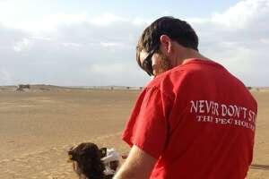 Never don't stop, even in the Sahara Desert.