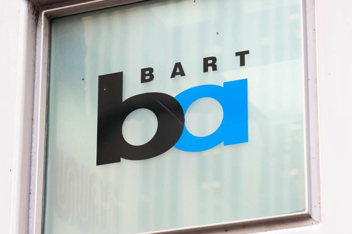 Bay Area Rapid Transit, or BART, logo seen at the city centre.